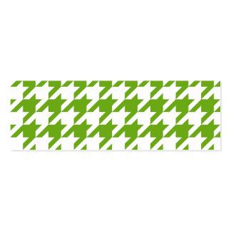 Grass Green Houndstooth Mini Business Card