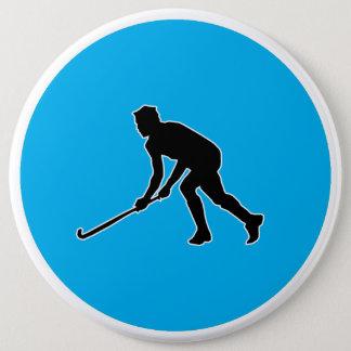 Grass Hockey Player 6 Inch Round Button