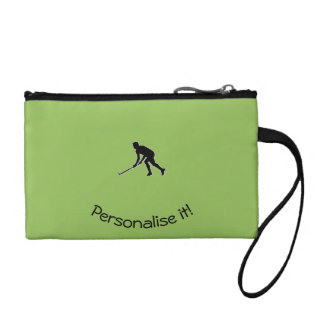 Grass Hockey Player Coin Purses