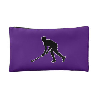 Grass Hockey Player Cosmetic Bags
