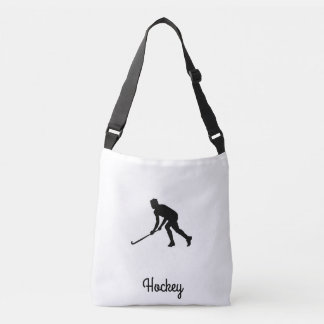 Grass Hockey Player Crossbody Bag