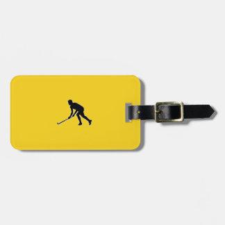 Grass Hockey Player Luggage Tag