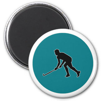 Grass Hockey Player Magnet