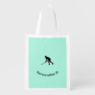 Grass Hockey Player Market Totes