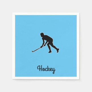 Grass Hockey Player Paper Napkin