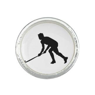Grass Hockey Player Rings