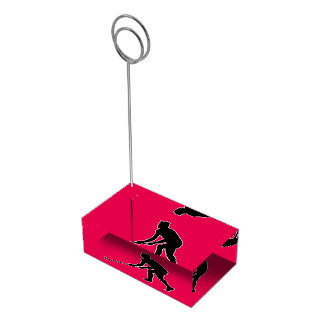 Grass Hockey Player Table Card Holder