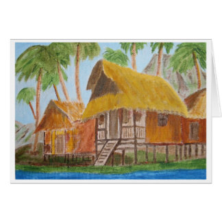 Grass Huts Card