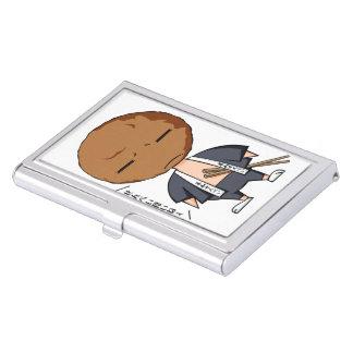 Grass karo four bright English story Soka Saitama Business Card Holder