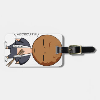 Grass karo four bright English story Soka Saitama Luggage Tag