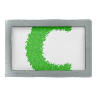 grass letter belt buckle