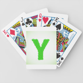 grass letter bicycle playing cards