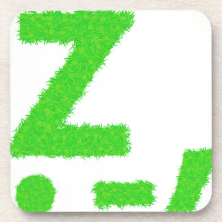 grass letter coaster