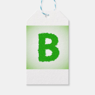 grass letter gift tags