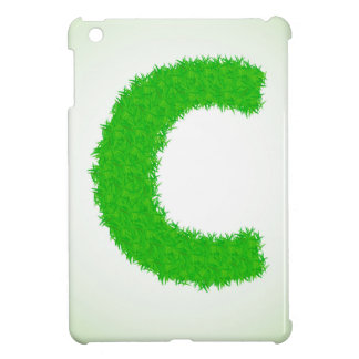 grass letter iPad mini case