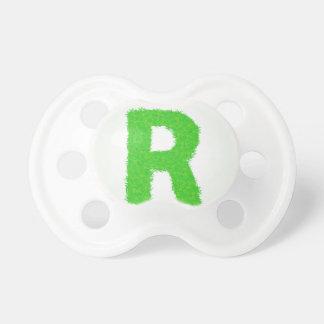 grass letter pacifier