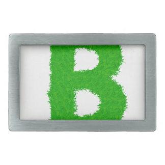grass letter rectangular belt buckle