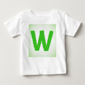 Grass Letter W Baby T-Shirt