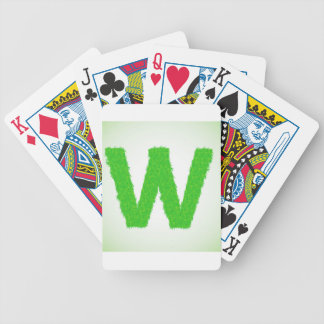 Grass Letter W Bicycle Playing Cards