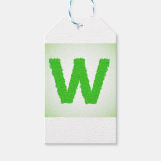 Grass Letter W Gift Tags