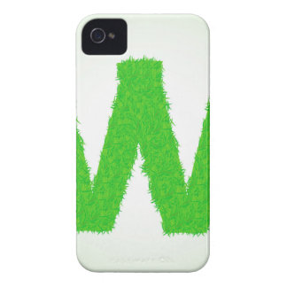 Grass Letter W iPhone 4 Case