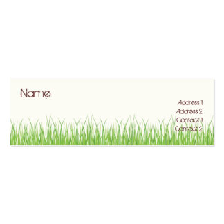 Grass Pack Of Skinny Business Cards