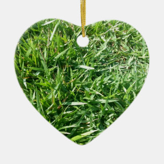 Grass Photo Design Ceramic Ornament