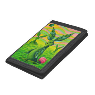 Grass rabbits trifold wallet