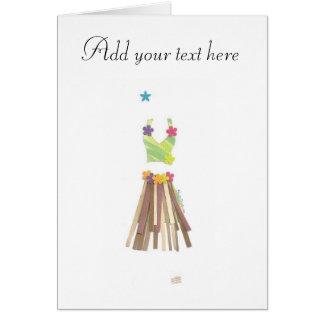 Grass Skirt Card