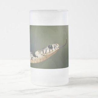 Grass Snake Frosted Glass Beer Mug