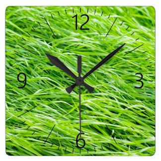 Grass Square Wall Clock