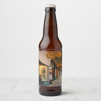 Grass Valley Tours California Gold Rush Beer Bottle Label