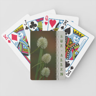 Grass with white flowers photograph bicycle playing cards