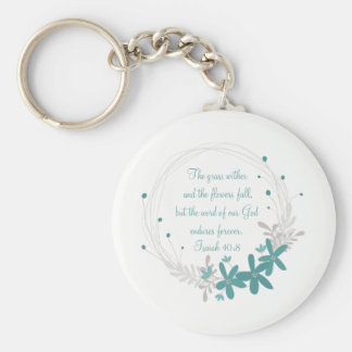 Grass Withers and the Flowers Fall Keychain