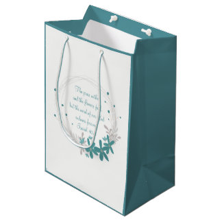 Grass Withers and the Flowers Fall Medium Gift Bag