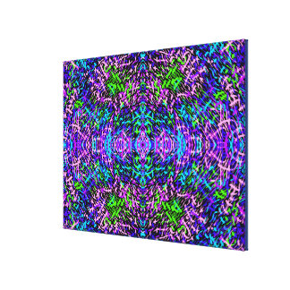 Grass World 2 Spacey Blues Canvas Print