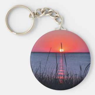 Grasses in the evening light - island reproaches keychain