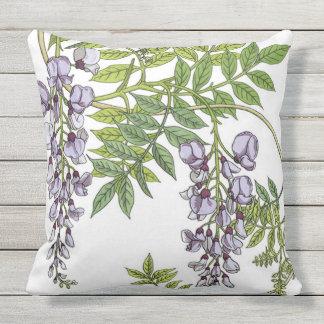 Grasset's Art Nouveau Wisteria Outdoor Pillow