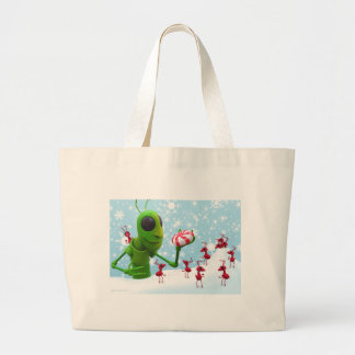 Grasshopper and the Ants Christmas Large Tote Bag