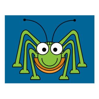 grasshopper cartoon postcard
