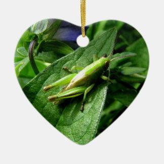 Grasshopper Ceramic Ornament