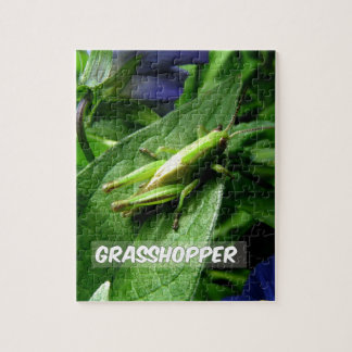 Grasshopper on leaf jigsaw puzzle