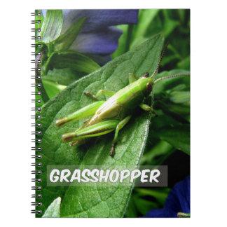Grasshopper on leaf notebooks