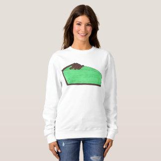 Grasshopper Pie Slice Dessert Foodie Sweatshirt