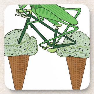 Grasshopper Riding Bike W/ Grasshopper ice cream Coaster