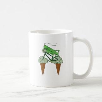 Grasshopper Riding Bike W/ Grasshopper ice cream Coffee Mug