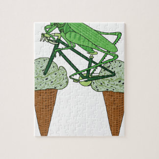 Grasshopper Riding Bike W/ Grasshopper ice cream Jigsaw Puzzle