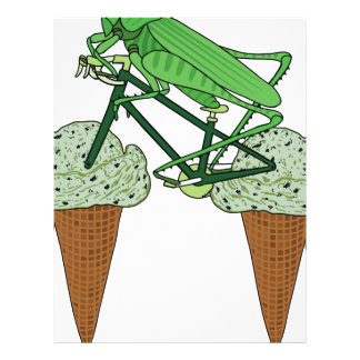 Grasshopper Riding Bike W/ Grasshopper ice cream Letterhead