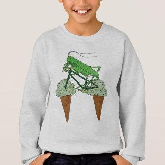 Grasshopper Riding Bike W/ Grasshopper ice cream Sweatshirt