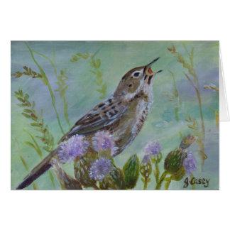Grasshopper Warbler Irish Art Greeting Card